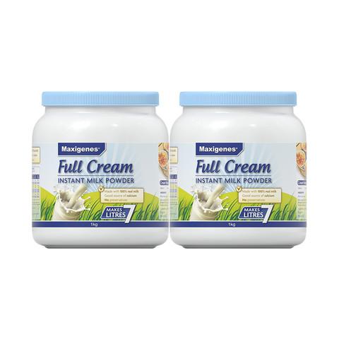 Maxigenes 美可卓 全脂高钙奶粉 1kg*2罐*2件 + 全脂高钙奶粉 1kg/罐*1件