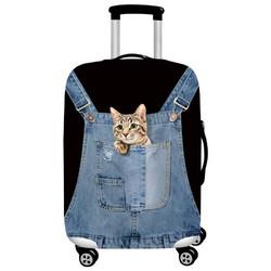 兔玛斯 弹力行李箱保护套 S码