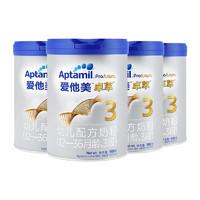 Aptamil 爱他美 卓萃 幼儿配方奶粉 3段 900克 4罐装