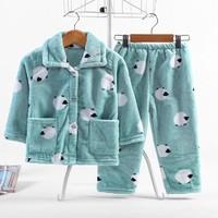 R88  儿童法兰绒睡衣套装