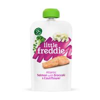 小皮(LittleFreddie)三文鱼肉泥儿童零食120g*1袋 +凑单品