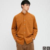 UNIQLO 优衣库 431388 男装 灯芯绒宽松立领衬衫