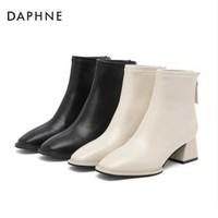 DAPHNE 达芙妮 1020605065 中跟拉链短靴