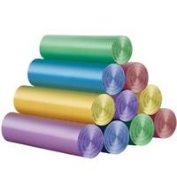京东PLUS会员:宜洁氏 彩色平口式 加厚型垃圾袋 100只装 *4件