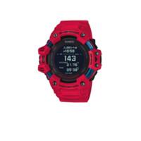 CASIO 卡西欧 G-SQUAD系列 GBD-H1000-4PR 55mm 男士电子手表 黑盘 红色树脂带 圆形