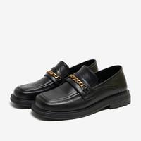 双11预售 : 百思图 ID003CQ0 英伦风厚底乐福鞋
