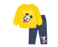 Disney 迪士尼 米奇系列 男童保暖卫衣套装 203T1148 黄色 80cm