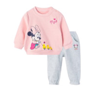 Disney 迪士尼 米奇系列 女童抓绒卫衣套装 203T1167 粉色 80cm