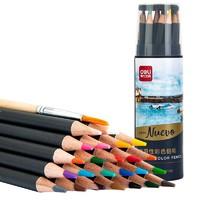deli 得力 68100 水溶性彩色2B铅笔 24色