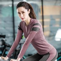 女款健身运动衣瑜伽服运动家居服长袖运动T恤