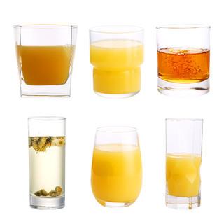 乐美雅玻璃杯套装 直身杯 300ml*6
