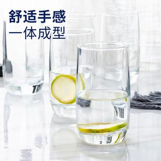 乐美雅玻璃杯套装 云石钢化杯6件套 300ml