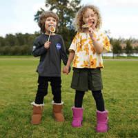 OZWEAR儿童经典款中筒一粒扣防泼水雪地靴