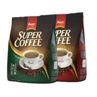 SUPER 三合一速溶咖啡组合装 1.2kg(特浓600g+原味600g)