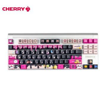 樱桃(CHERRY)MX8.0 甜食宠溺主题 定制机械键盘 超萌糖果 87键单色背光 定制键盘 红轴
