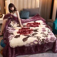 琦格娜 双层加厚拉舍尔毛毯 150*200cm 4斤