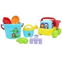费雪儿童沙滩玩具套装宝宝玩沙工具加厚铲子和桶铲沙挖沙子城堡 趣味沙滩套装F0119
