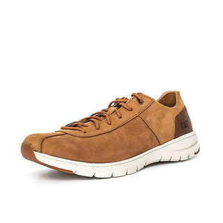 CAT 卡特彼勒 男士牛皮纯色圆头系带休闲鞋P723087I1MMC07 棕黄色42