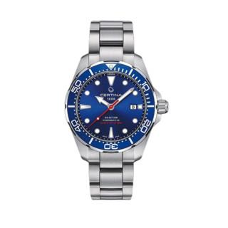 CERTINA 雪铁纳  动能系列 C032.407.11.041.00 43mm 男士机械手表 蓝盘 银色不锈钢表带 圆形