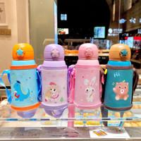 AISIDUN爱思顿  儿童保温防摔水壶 粉色 萌兔  三盖+杯套 标配