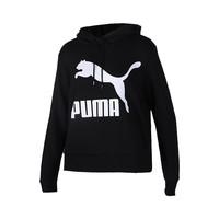 双11预售:【直营】Puma女针织卫衣运动服串标休闲连帽套头衫上衣595915-01