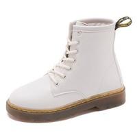 保罗·弗希尼 马丁靴女秋季薄款 白色 35