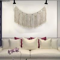 新款北欧风家居饰品壁挂 编织挂毯沙发背景装饰DIV手工编织 MS717