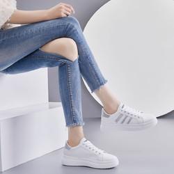2020秋季百搭时尚松糕厚底女小白鞋女士休闲鞋女鞋