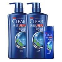 88VIP : CLEAR 清扬 男士清爽控油型去屑洗发露  (500ml*2+100g + 赠清扬洗发水补充装200g*2+牙刷)