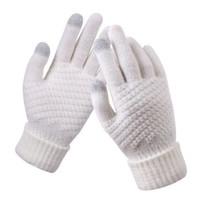 迈乐佳(MALEEJIA)新款男女士秋冬季保暖手套 白色