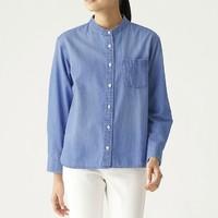 MUJI 无印良品 BCB06A0S 女式牛仔立领衬衫