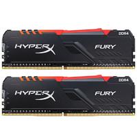 金士顿(Kingston) DDR4 3600 16GB(8G×2) 台式机内存条 RGB灯条 骇客神条 Fury雷电系列
