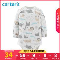 Carters秋冬新款新生婴儿连体衣宝宝长袖哈衣爬服18139110C