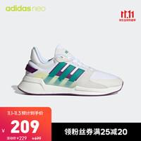 阿迪达斯官网 adidas neo RUN90S 男鞋休闲运动鞋EH2572 亮白/云朵白/荣绿/荣耀紫 43(265mm)