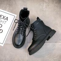 回力马丁靴女秋冬新款女士气质显瘦皮靴保暖复古英伦双拉链款靴子