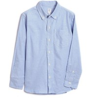 Gap 盖璞 男童纯棉长袖衬衫 699648 蓝色 110cm