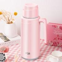 富光FGA办公壶家用保温瓶玻璃内胆水瓶 悦真桌面壶 1.7L 粉色