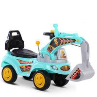 移动专享 : QZMTOY 挖掘机可骑可坐滑行扭扭车 蓝色加大炫酷款送电池