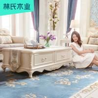 现代欧式简约仿大理石面奢华小茶几长方形白色客厅茶机桌子KJ620H