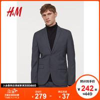 HM 男装西服2020秋冬新款商务西装男士帅气修身外套 0713986