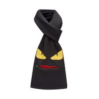 FENDI 芬迪 男士小怪兽羊毛拉链围巾围巾