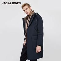20日0点:JACK JONES 杰克琼斯 219412514 中长款毛领羽绒服