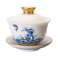 唐宗茶道 C5669 盖碗白瓷