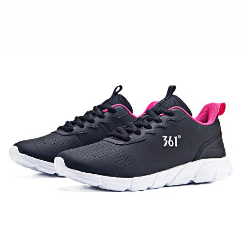 361度女鞋运动鞋秋季新款革面轻便休闲潮鞋跑步鞋女