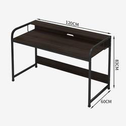 亿家达 现代简约电脑桌 120*60*83cm(黑胡桃色+黑架)