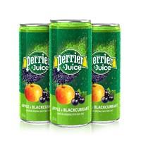 双11预售 : Perrier 巴黎水 含气苹果黑加仑 果汁饮料 250ml*24罐