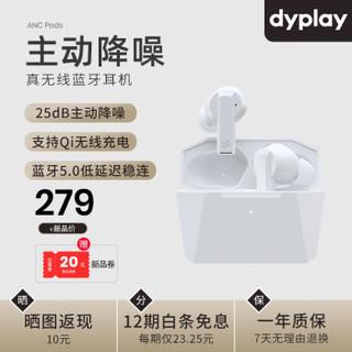 dyplay  ANC Pods主动降噪真无线蓝牙耳机  入耳式  光感白 +凑单品