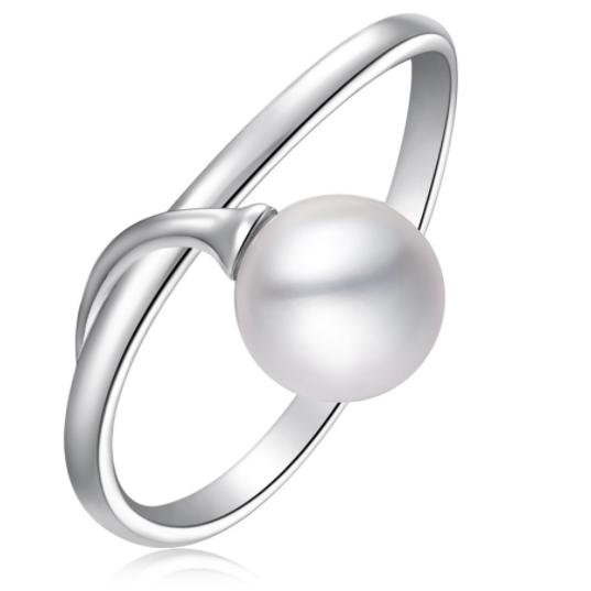CHOW TAI FOOK 周大福 #运动时尚国货新品#简约珍珠不简单 AQ33233 女士珍珠银质戒指