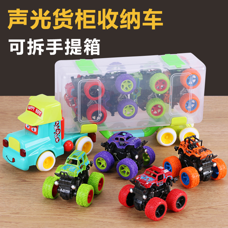 【四驱越野车】惯性回力儿童玩具车