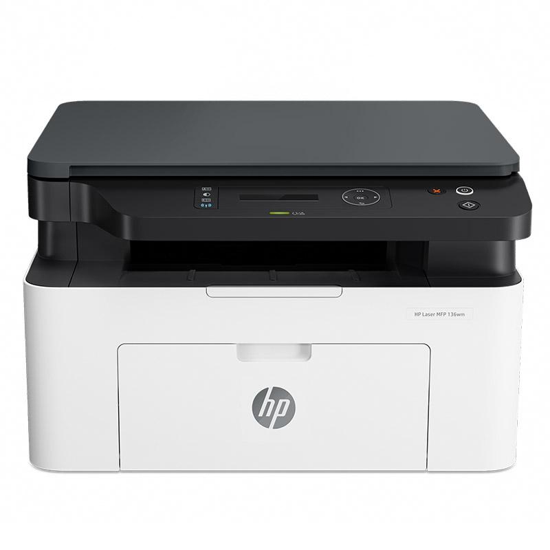 HP惠普 Laser MFP 136wm锐系列黑白激光多功能无线WiFi手机打印机一体机A4复印件扫描三合一小型家用办公136w